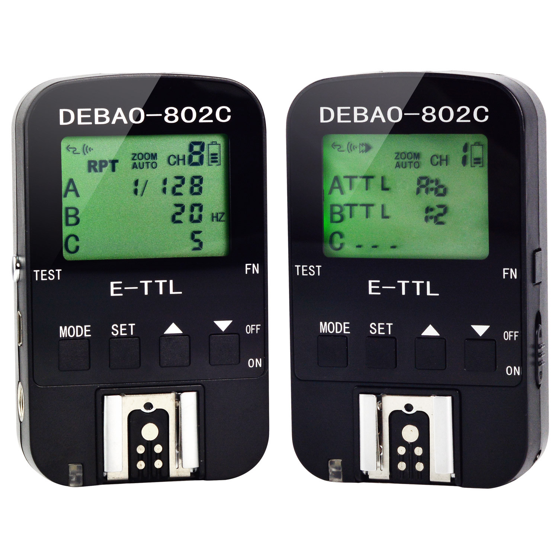 MENGS® 802C Wireless TTL Flash Trigger 1/8000s for Canon EX II SLR Camera Flash