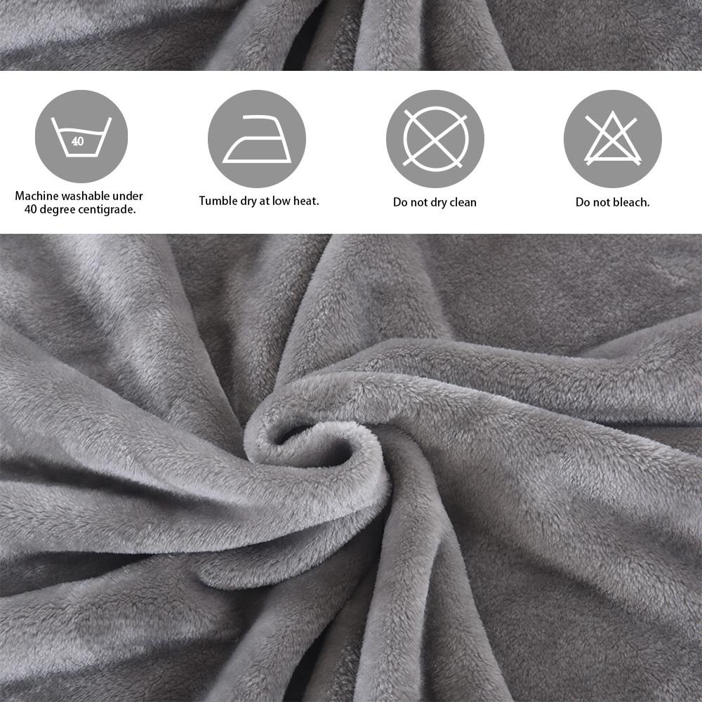 MENGS® Fluffy Throw Blankets King Size Silver Grey Super Soft Fleece Bedspread Blanket Flannel Microfiber Sofa Bed Blankets 230x200cm