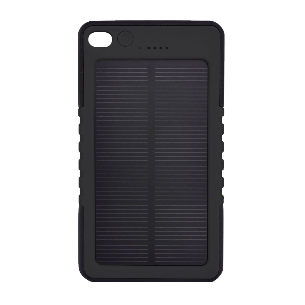 MENGS® ES800 USB Shockproof Non-Slip And Waterproof Plastic Solar Mobile Power DC 5V/1A With 3 LED Mode - Lighting / SOS Signal Light / Flashing - Black