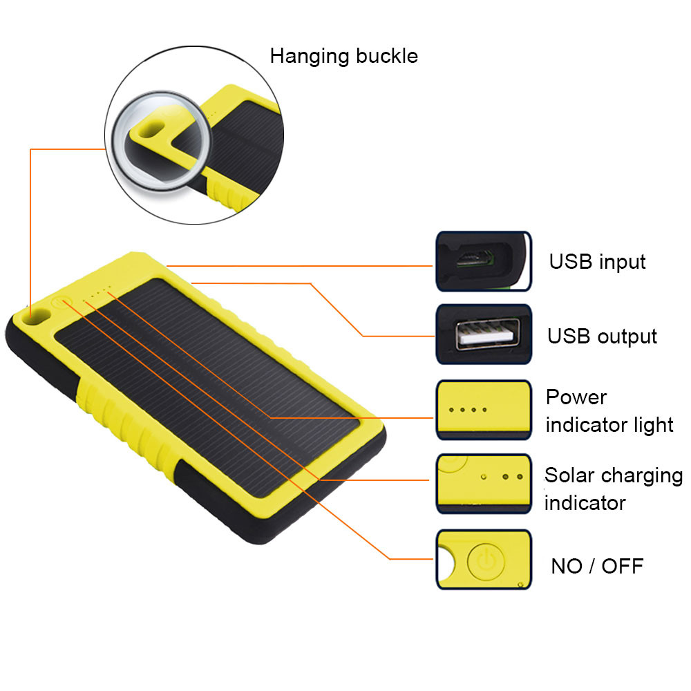 Mengs Es800 Usb Shockproof Non Slip And Waterproof Plastic Solar 5v One Battery Led Light Flasher Circuit Diagram Electronic Mobile Power Dc 1a With 3 Mode Lighting Sos Signal Flashing Yellow