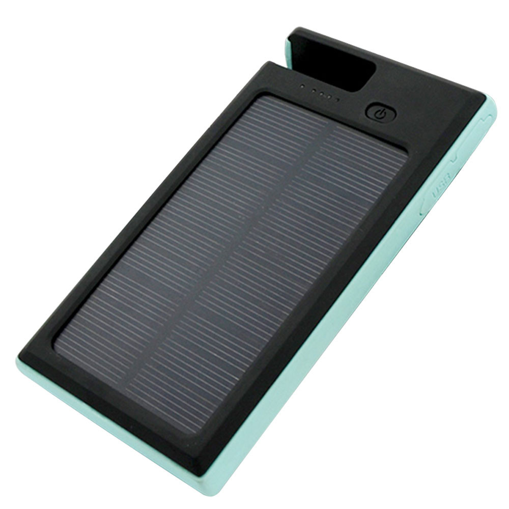 MENGS® ES900 Dual USB Quick Charging Phone Stand Solar Mobile Power 4000mah Capacity Li-Battery Monocrystalline Silicon Solar Panel(Input DC 5V/2A, Output DC 5V/1A,2A) With Three LED Mode - Lighting / SOS Signal Light / Flashing Lighting - Blue