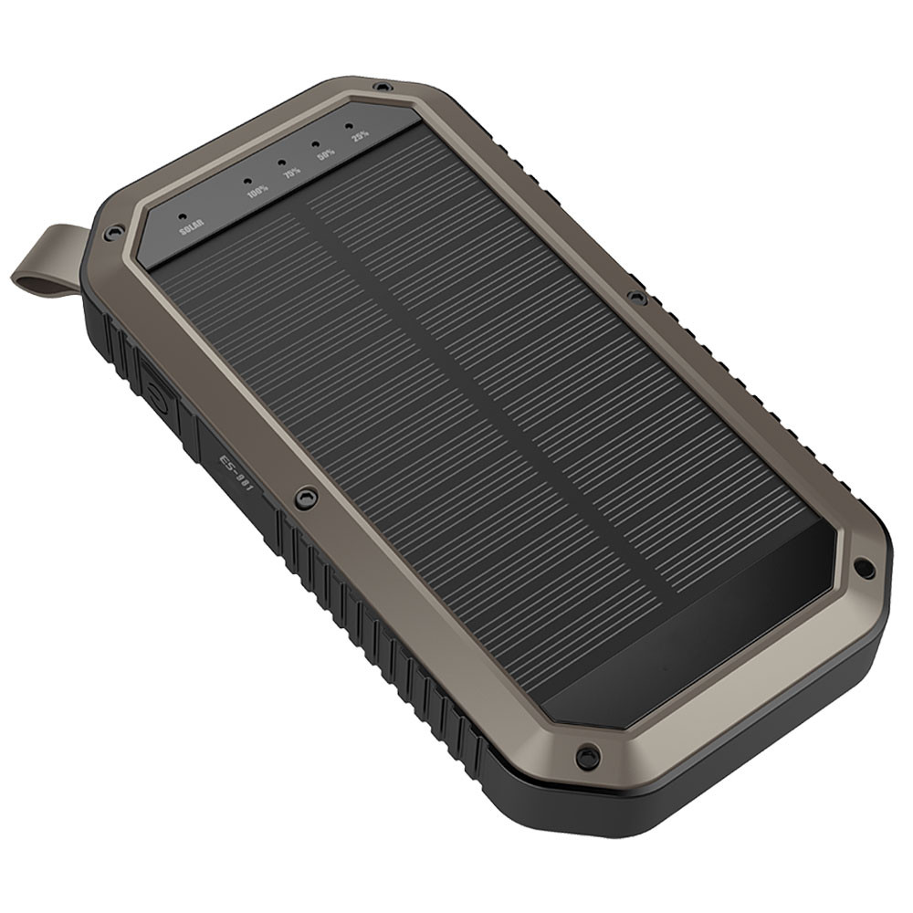MENGS® ES981 Three USB Ports Camping Solar Mobile Power 8000mah Li-Battery Efficient Monocrystalline Silicon Solar Panel(Input DC 5V/2A, Output DC 5V/1A) With LED Emergency Torch Light For Almost Phones,Ipad,Camera,Etc Digital Device