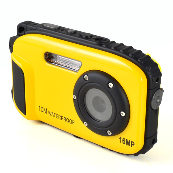 """MENGS® 16MP 2.7"""" Screen Water Resistant Digital Video Camera / DV Camcorder Underwater 10M for Diving Sports - Yellow"""