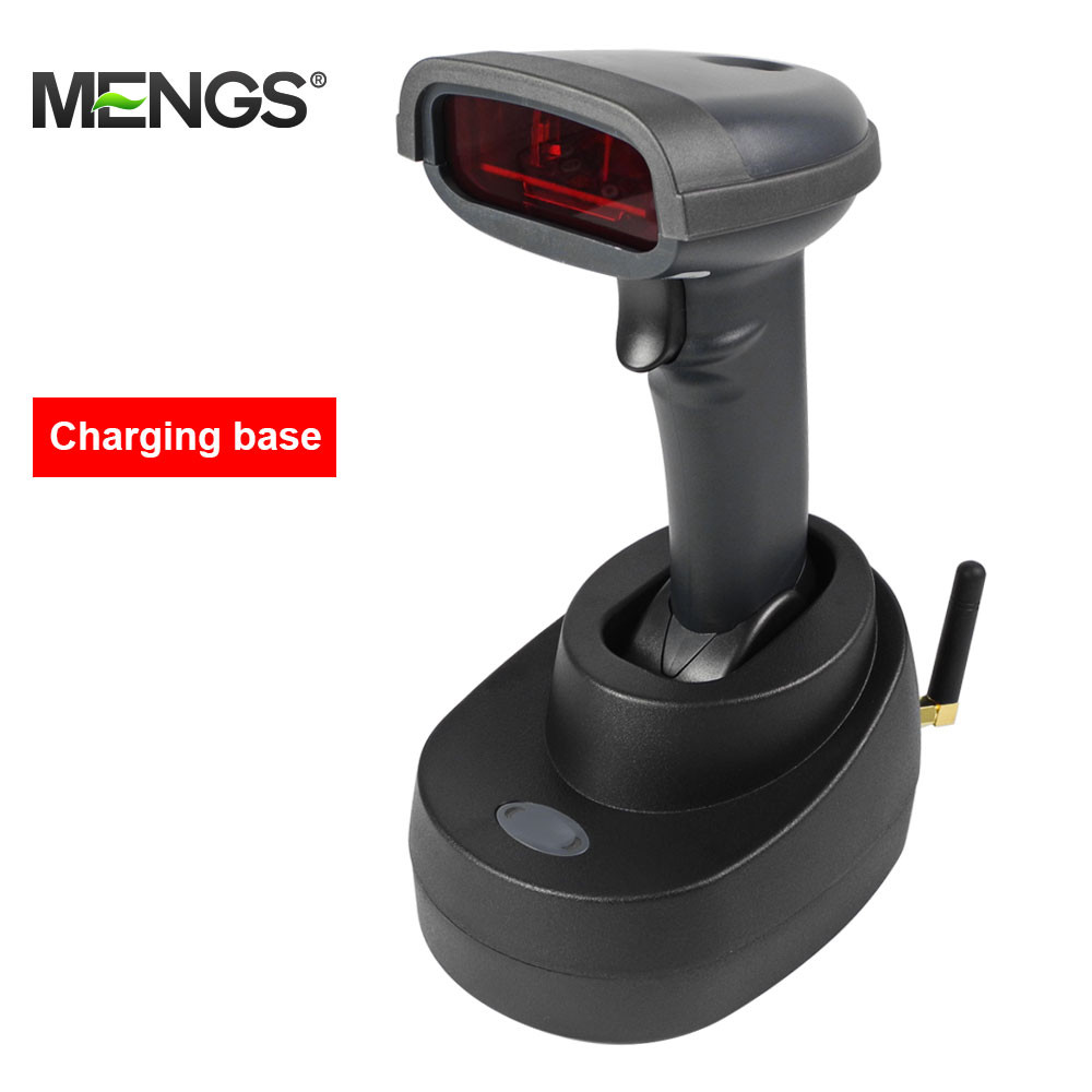 MENGS® CT980Z 433MHz Wireless USB Barcode Scanner with Charging Stand with ABS + PC 400M Transmission Distance For Logistic Manufacture Retail Hotel Office Medical Carrier Express Store Supermarket Warehouse Library POS