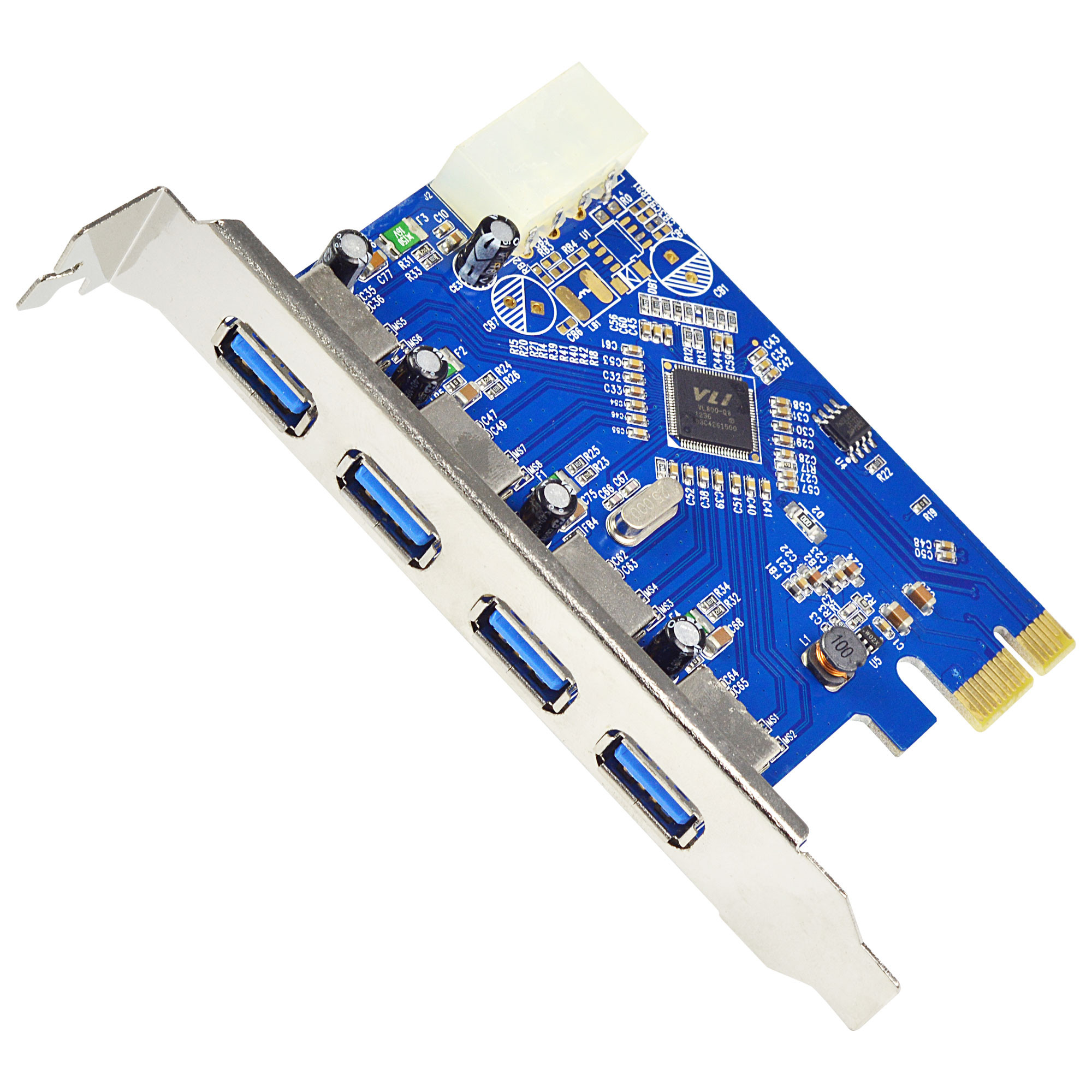 MENGS® PCI Express to 4 Port USB 3.0 HUB Card Adapter PC Desktop Computer Upgrade PCI E