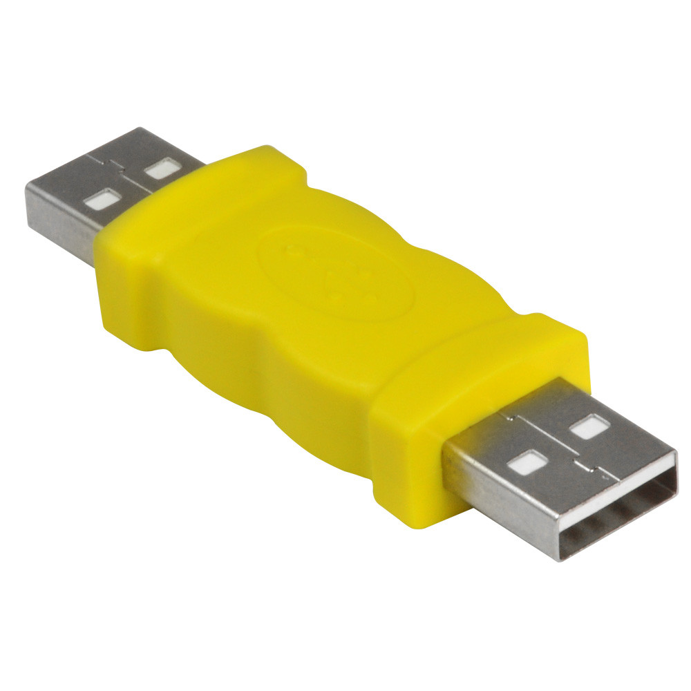 MENGS® USB Type A Male to Male Coupler Connector Adapter for Cable - Yellow