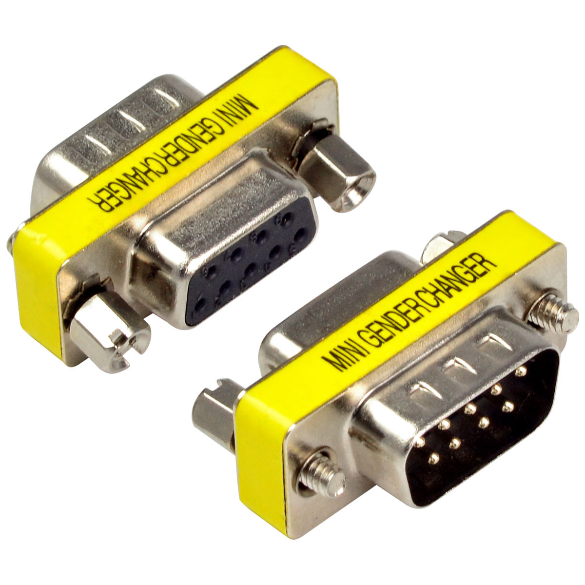 MENGS® 9 Pin RS232 DB9 Pin Male To Female Serial Cable Gender Changer Adapter Connector