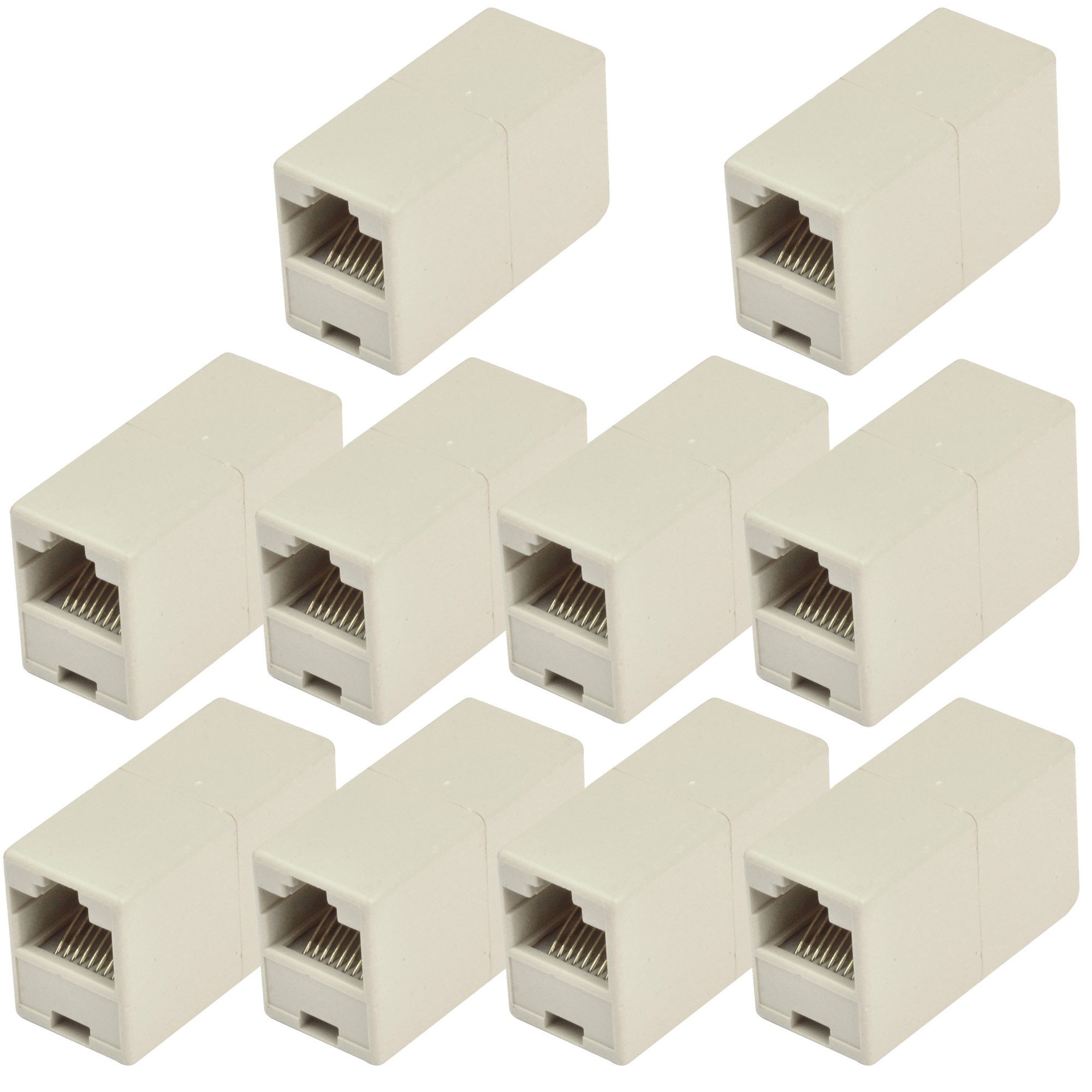 MENGS® 10Pcs High quality Newtwork Ethernet Lan Cable Joiner Coupler Connector RJ45 CAT5 Extender Plug