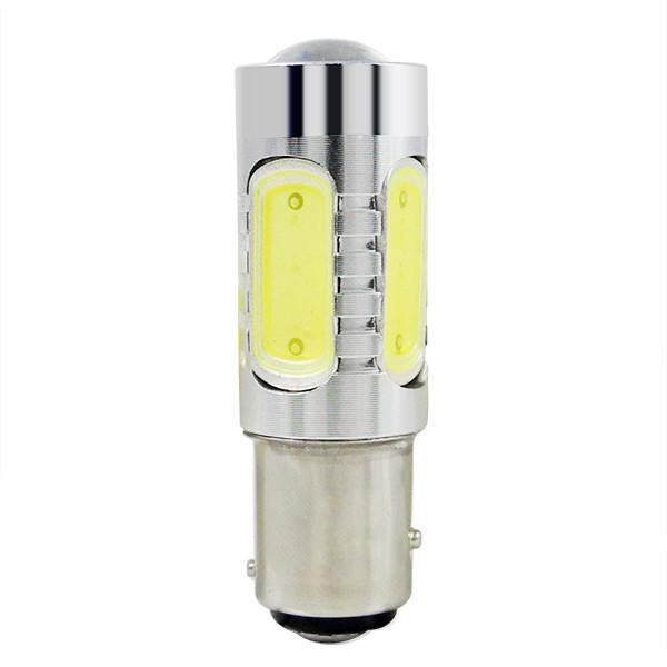 MENGS® BAY15D 11W LED Car Light 5 COB LED Car Brake Light Lamp Bulb DC 10-30V in Warm White Energy-saving Light