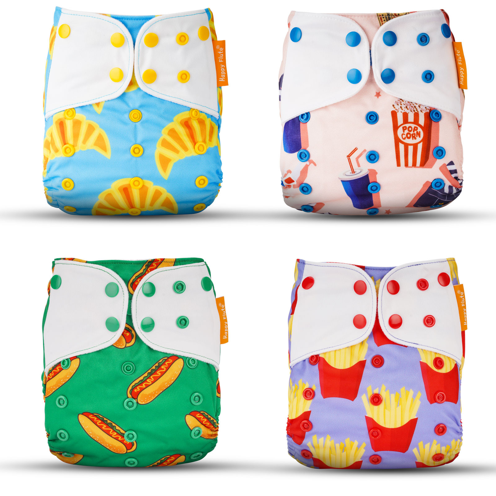 MENGS® Baby Cloth Diapers Adjustable Washable And Reusable Pocket Diapers For Baby Girls (4PCS)