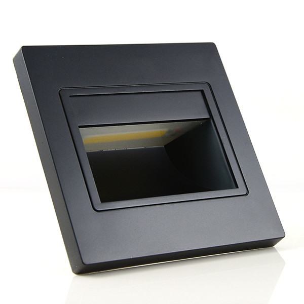 MENGS® 1W LED Wall Step Light COB LEDs LED Stair Lamp in Warm White Energy-Saving Light - Black