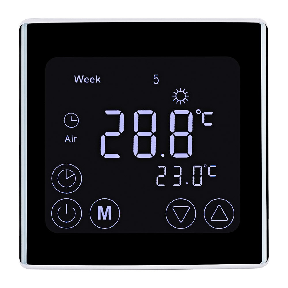 MENGS® C17.GH3 7 Days Programmable Heating Thermostat with LCD Touch Screen PC For Home School Office Business area