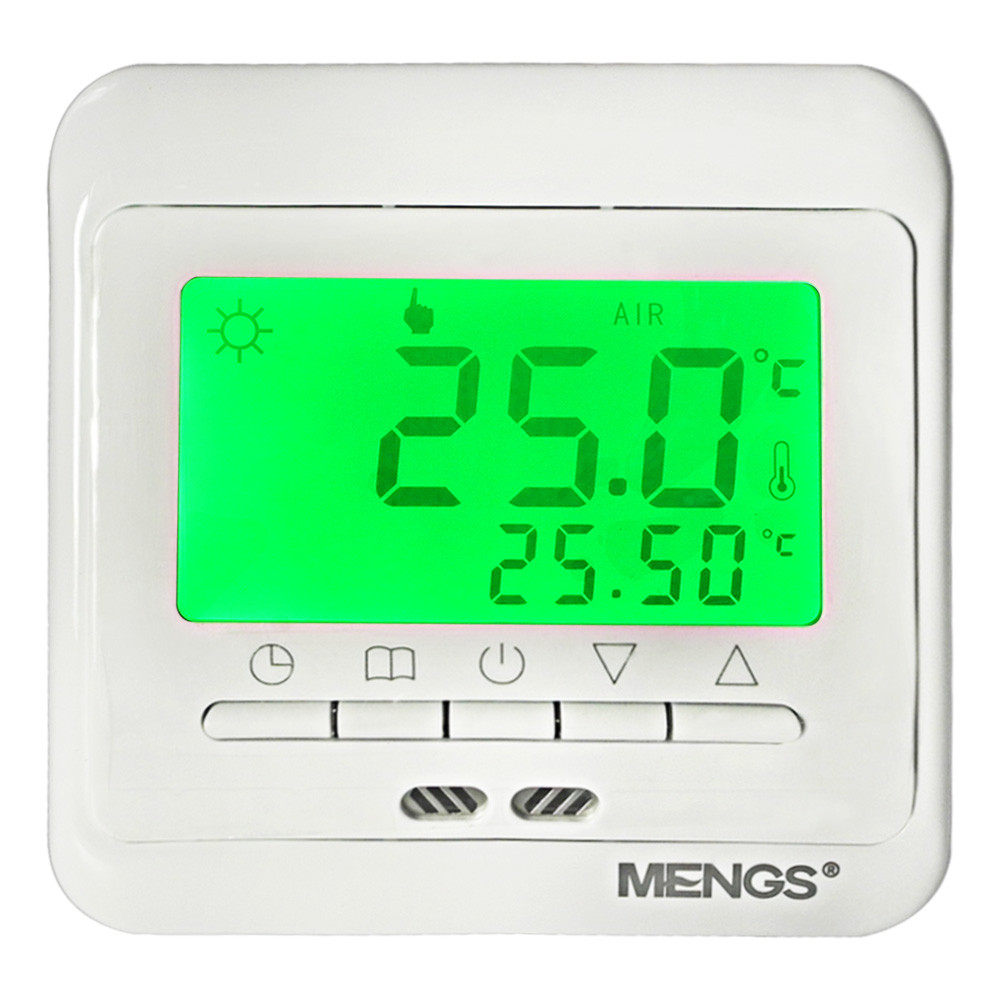 MENGS® C11.H3 7 Days Programmable Heating Thermostat with LCD Display PC For Home School Office Business area