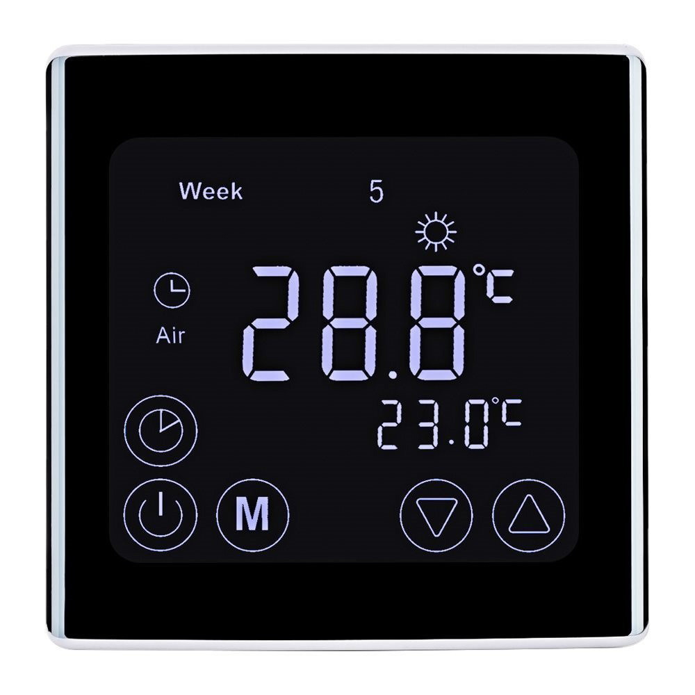 MENGS® C17.GH1 7 days Programmable Touch Screen Thermostat for Home, With Large LCD Digital Display Easy to Read