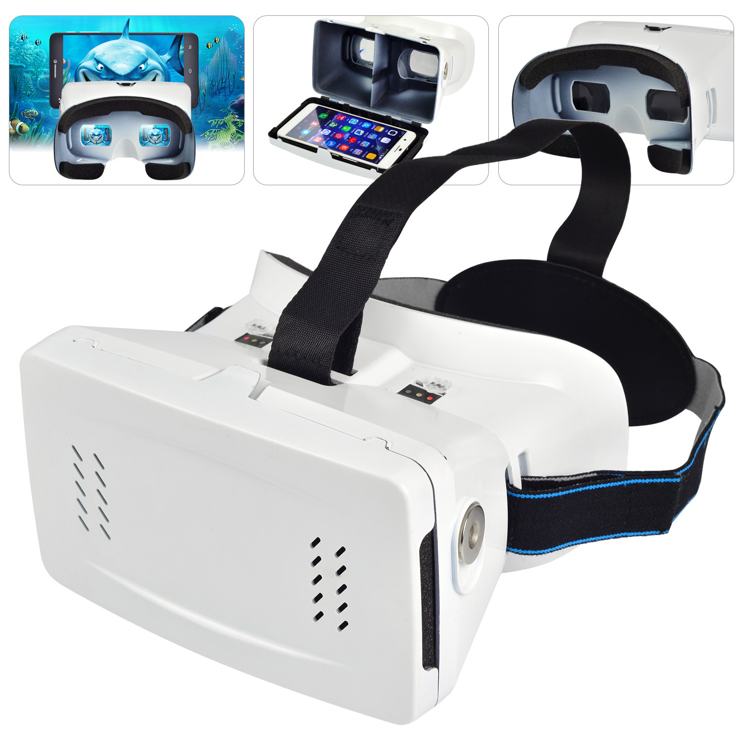 MENGS® 3D RIEM II virtual reality Glasses with ABS material and magnetic switch compatible for smart phones 3.5~6.0 inches screen