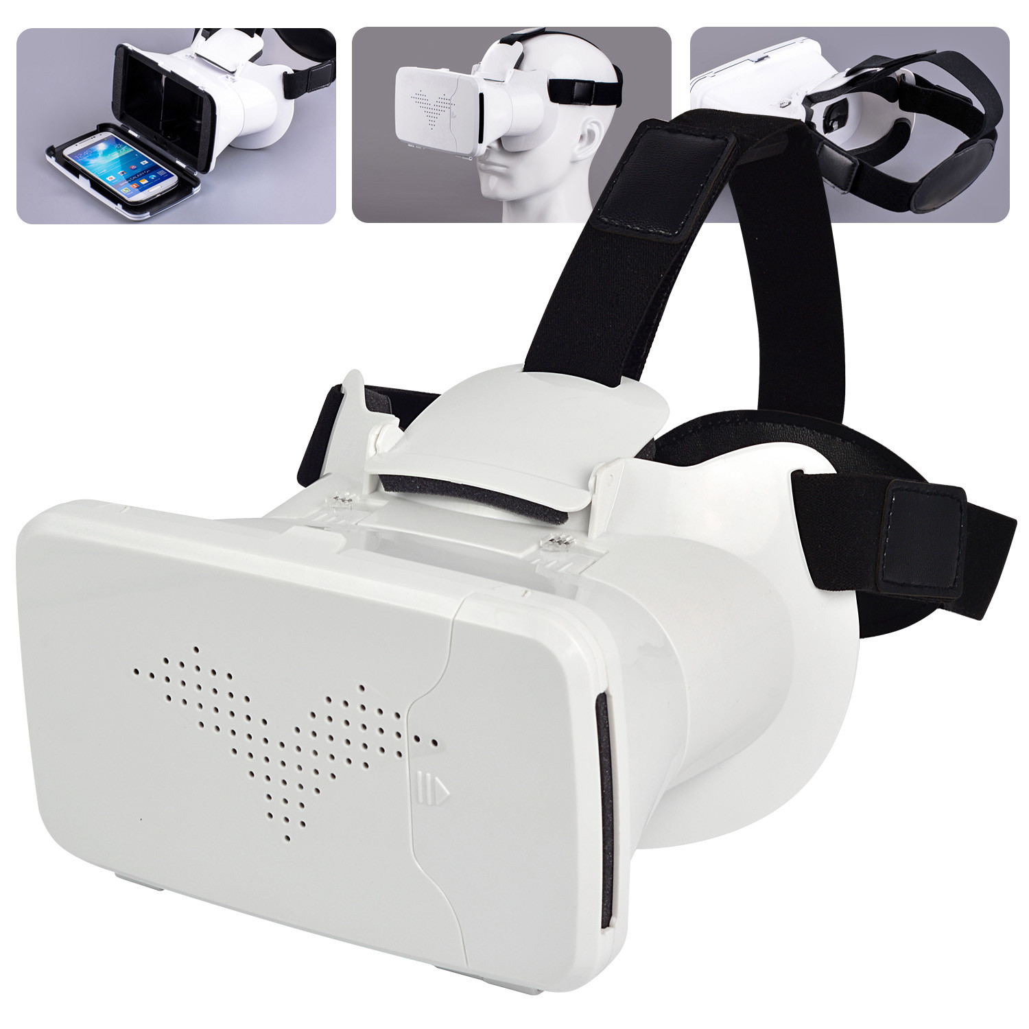 MENGS® RIEM 3 virtual reality 3D glasses VR headset with ABS material and capacitive touch button compatible for mobile phones 3.5~6.0 inches screen