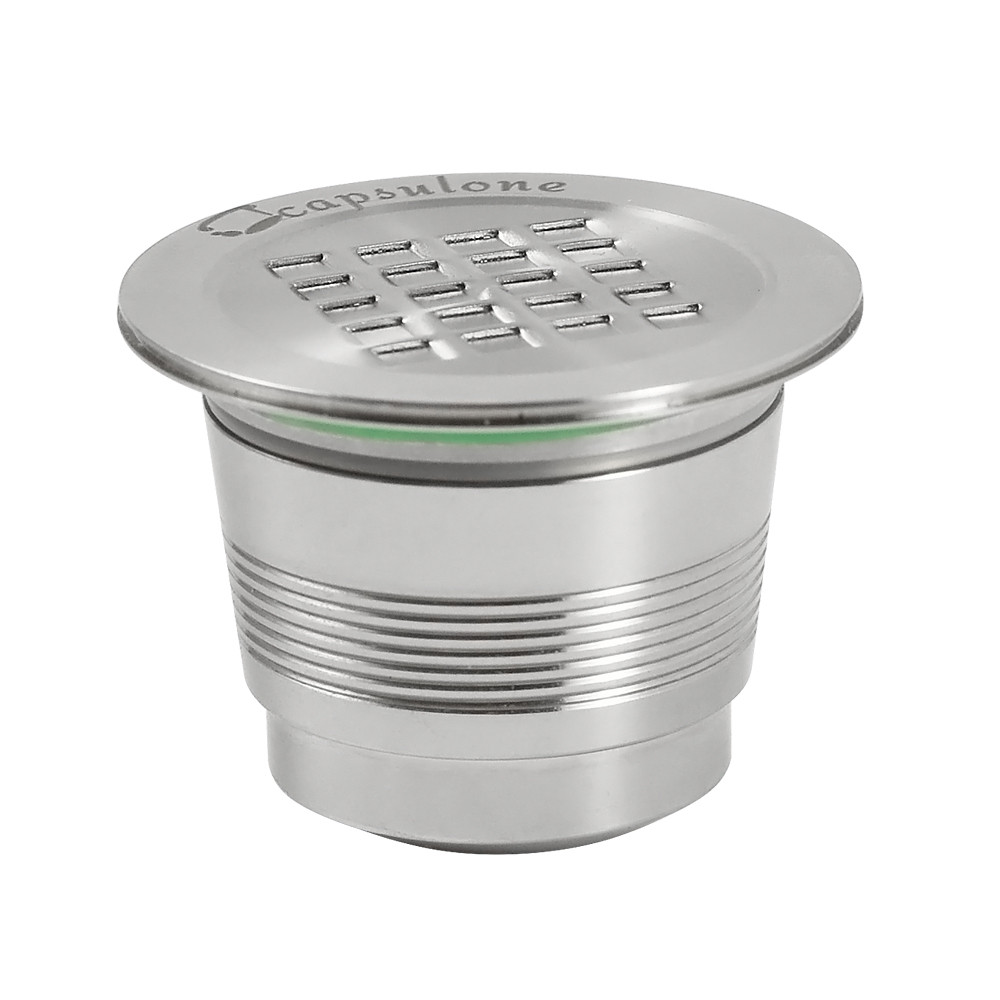 CAPSULONE® Stainless Steel Refillable Coffee Capsules with Accessories Compatible With Nespresso Machine Reusable