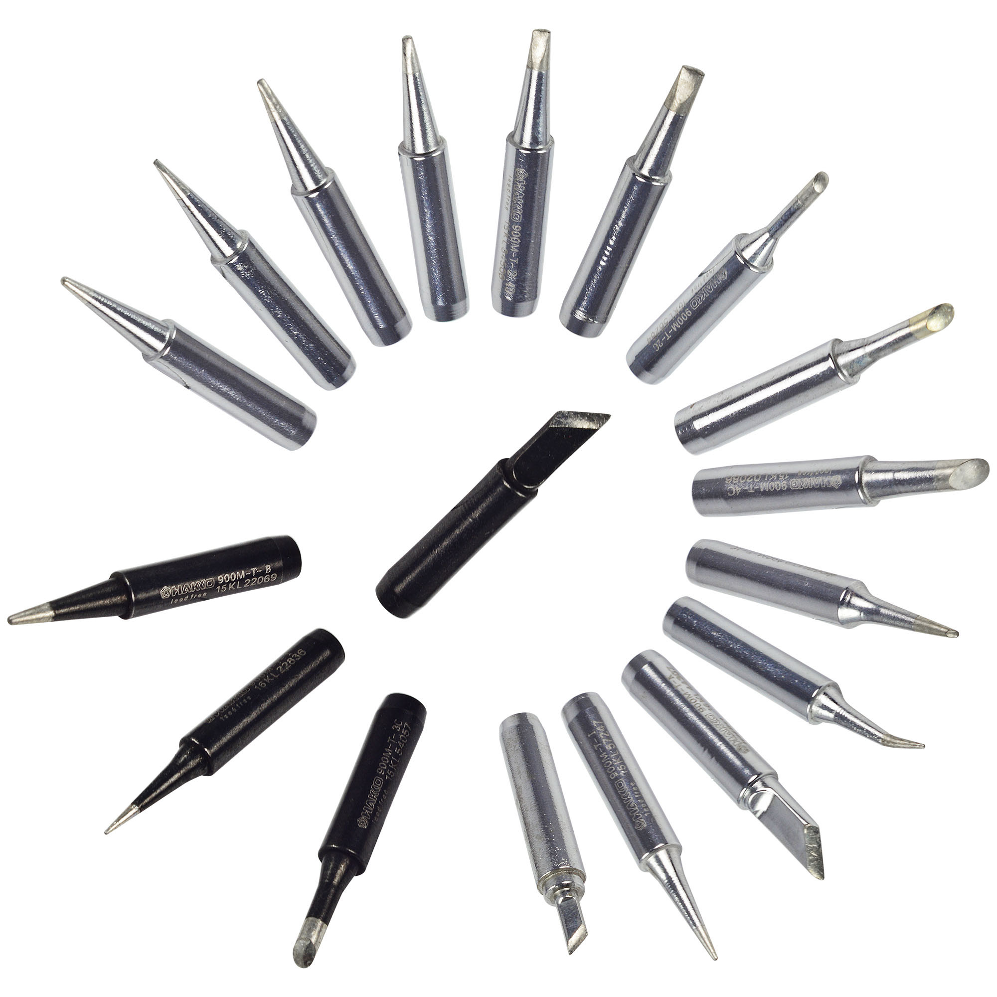 MENGS® 18pcs Solder iron Tip Lead-free Soldering Bit Replace Tips for 936 Soldering Rework Station BGA Tool Accessory