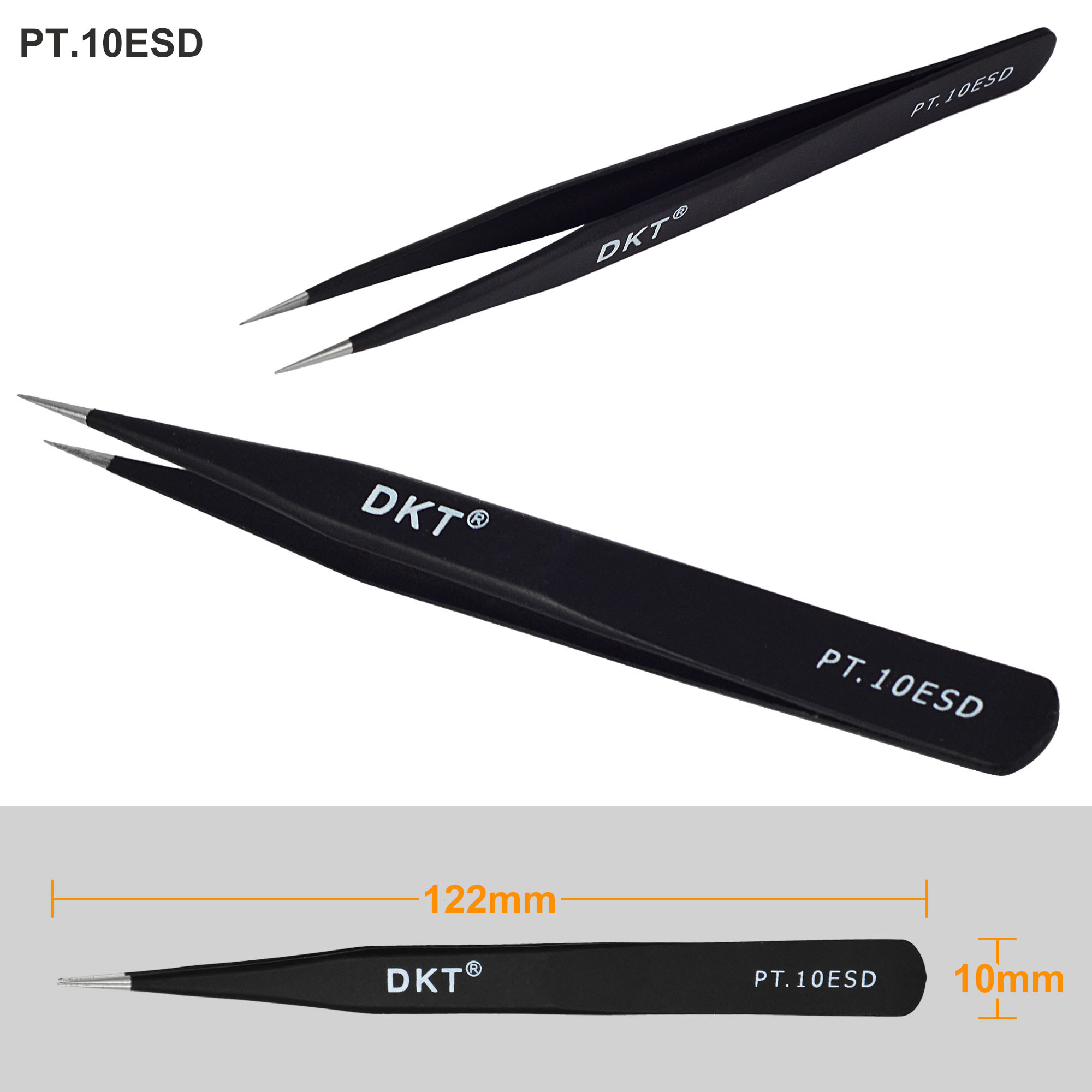 6pcs Set Professional Safe Anti Static Tweezer Maintenance Repair Circuit Board Kit In Esdsafe Case Tool Kits Curved Esd Led Lights Photography Accessories