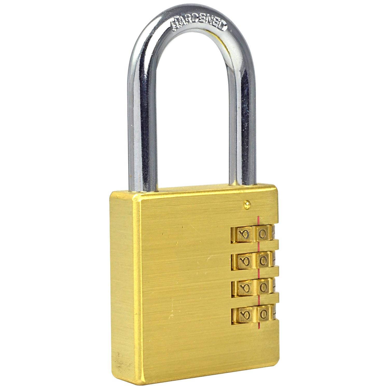 MG504 Full Brass Combination Lock Password Plus Padlock for Travelling Bag and Door .