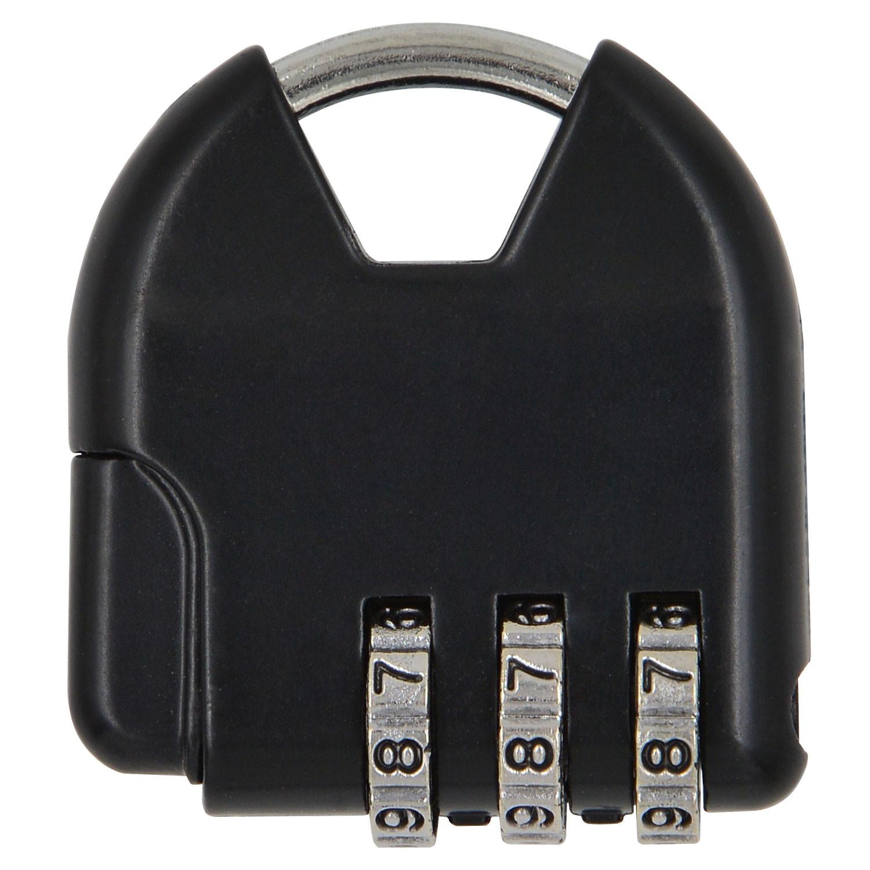 MENGS® S820 3 Digital Resettable Password Padlock Mini Luggage Bag Combination Code Lock