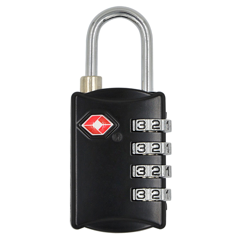 MENGS® TSA309 TSA 4 Digit Combination Lock Padlock/TSA customs password lock For luggage, zipper bag, handbag, suitcase, etc.