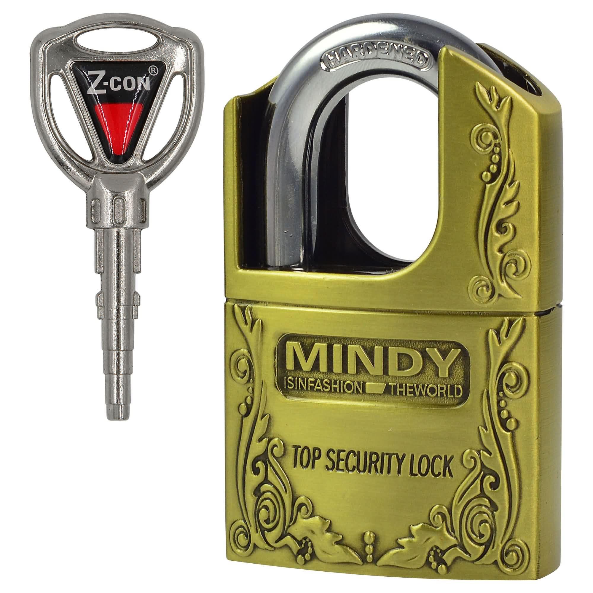 MENGS® AF4 50mm Antique Bronze Padlock Anti-Theft Safe Lock Security Padlock With 3 Keys