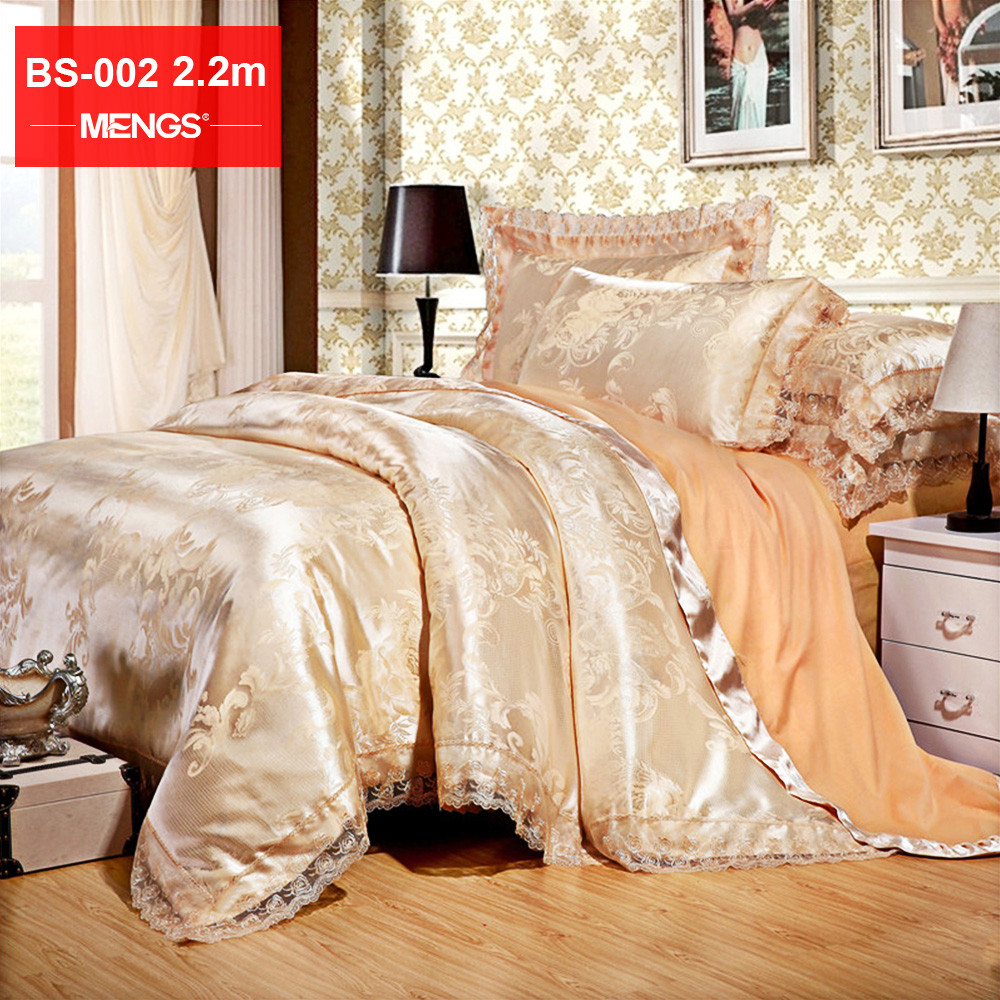 MENGS® BS 002 2.2M(Width) High End Bed Sheet Set