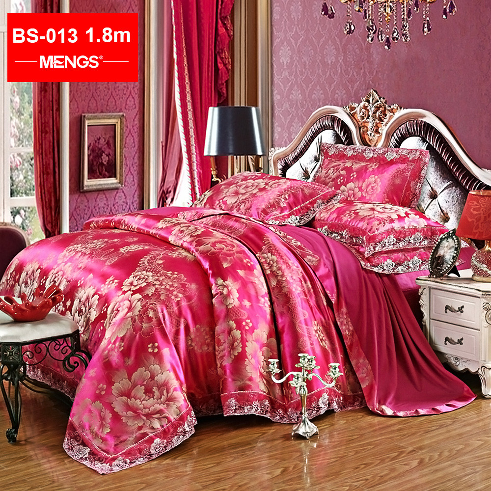 MENGS® BS-013 1.8M(Width) Gorgeous Bed Sheet Set Lining: 100% Cotton; Fabric: 62% Modal + 38% Cotton For Bedroom, Guest room, RV, Vacation home
