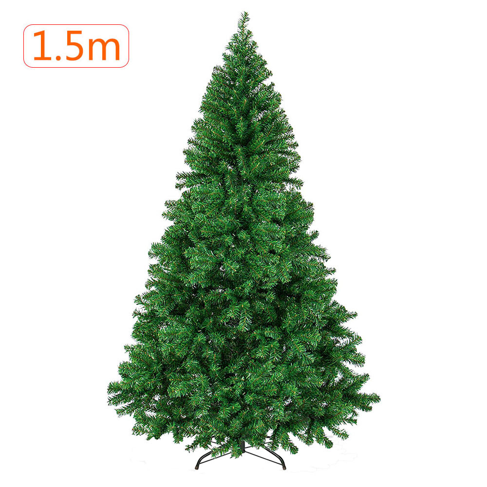 MENGS® 1.5M Green Christmas Tree with Metal Stand Artificial Xmas Traditional Decorations Indoor