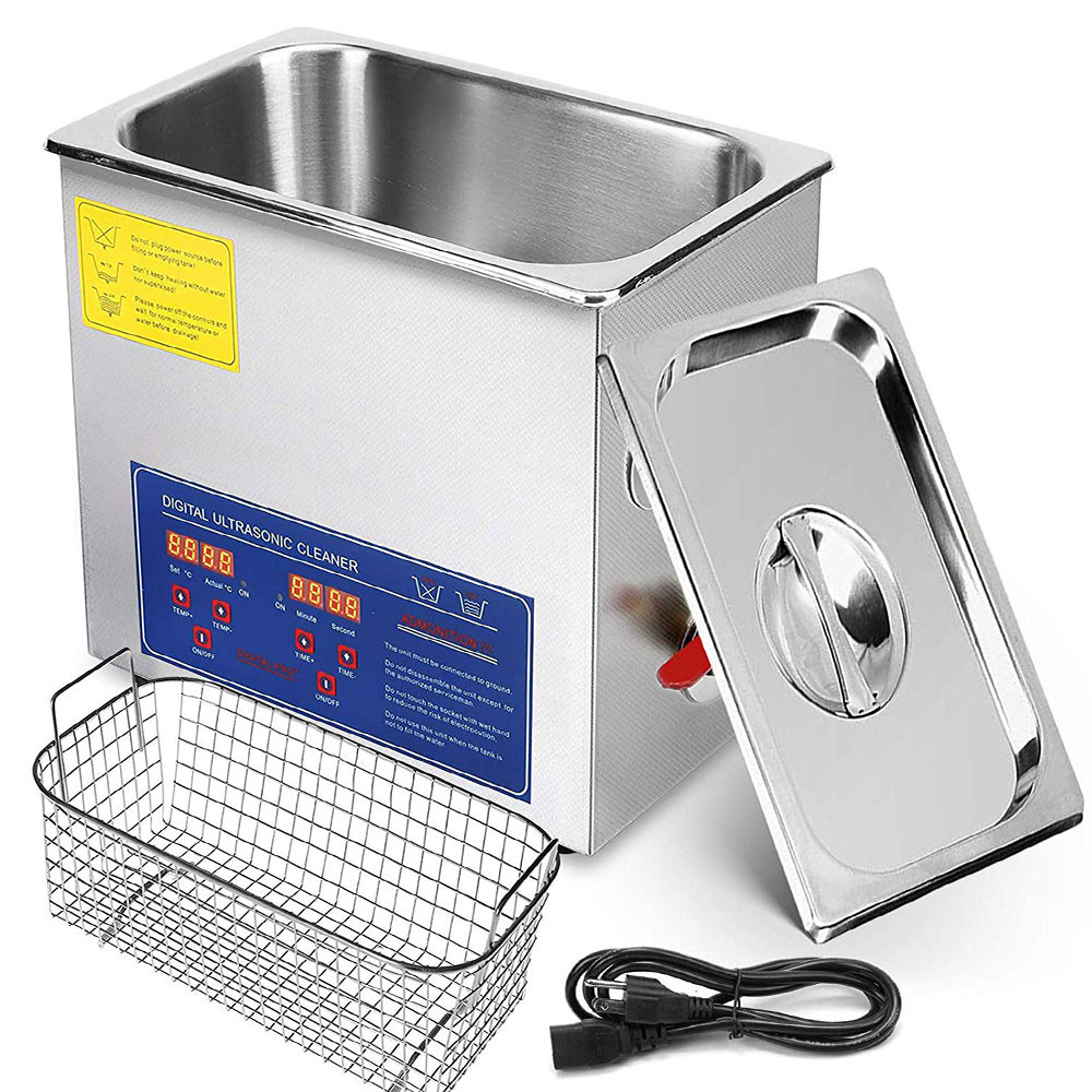 MENGS® 10L Ultrasonic Cleaner 240W Commercial Ultrasonic Cleaner Professional Stainless Steel Industrial Ultrasonic Cleaner Jewelry Cleaner with Heater Timer