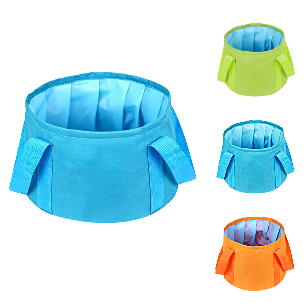 MENGS® Ultra-Light Portable 15L Outdoor Survival Folding Washbasin Camping Basin Camping Equipment Survival Military Travel Kits - Blue