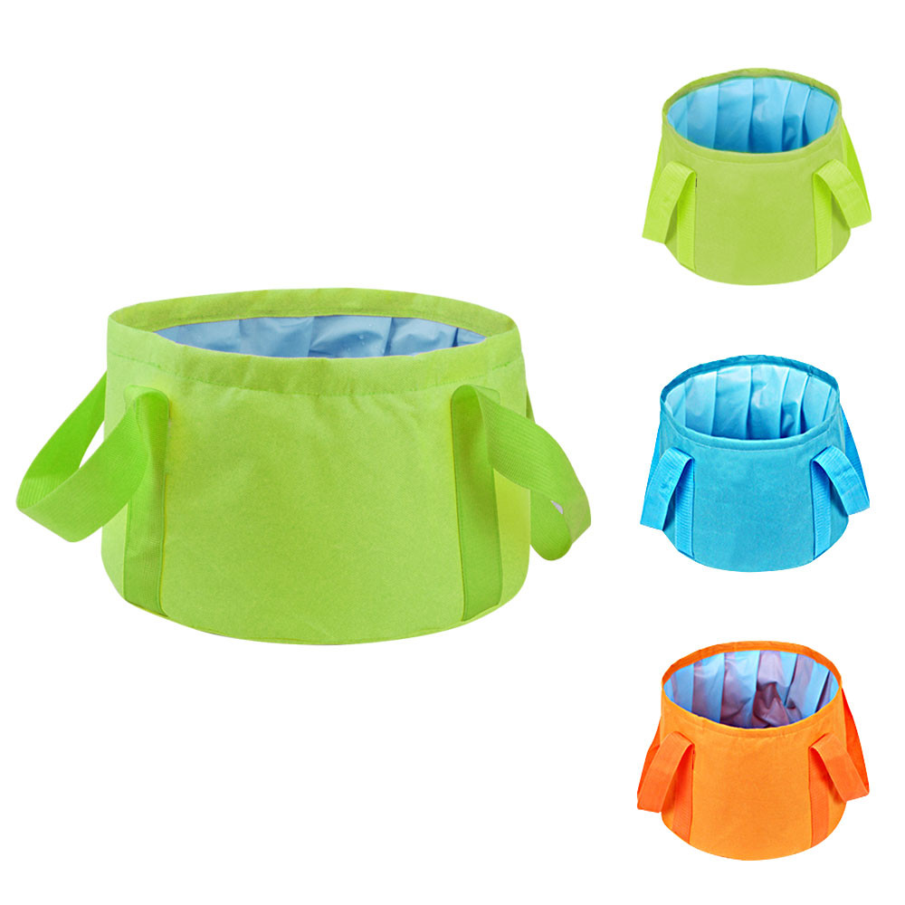 MENGS® Ultra-Light Portable 15L Outdoor Survival Folding Washbasin Camping Basin Camping Equipment Survival Military Travel Kits - Green