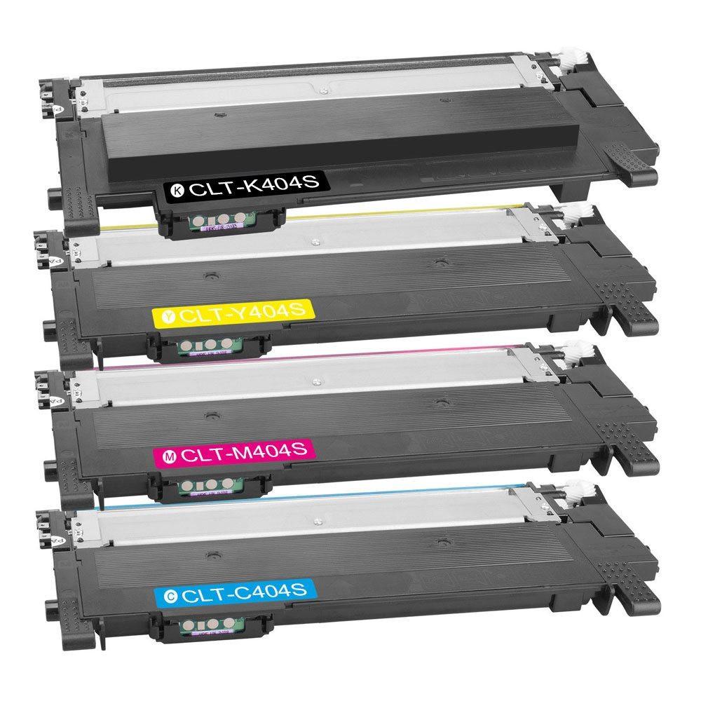 MENGS® CLT-K/C/M/Y404S Multipack(Black, Cyan, Magenta, Yellow) Laser Toner Cartridge For Samsung Xpress SL-C430/XSS, SL-C430W/XSS, SL-C480/XSS, SL-C480W/XSS, SL-C480FW/XSS Printer