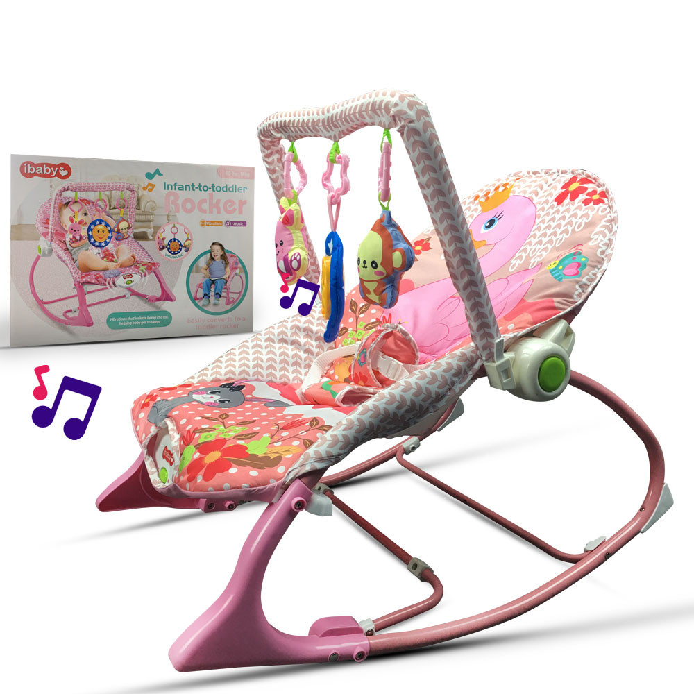 MENGS® MENGS Portable Electric Music Baby Rocking Chair Infant Toddler Cradle Rocker Baby Bouncer Chair Baby Swing Chair Lounge Recliner for Kids Children