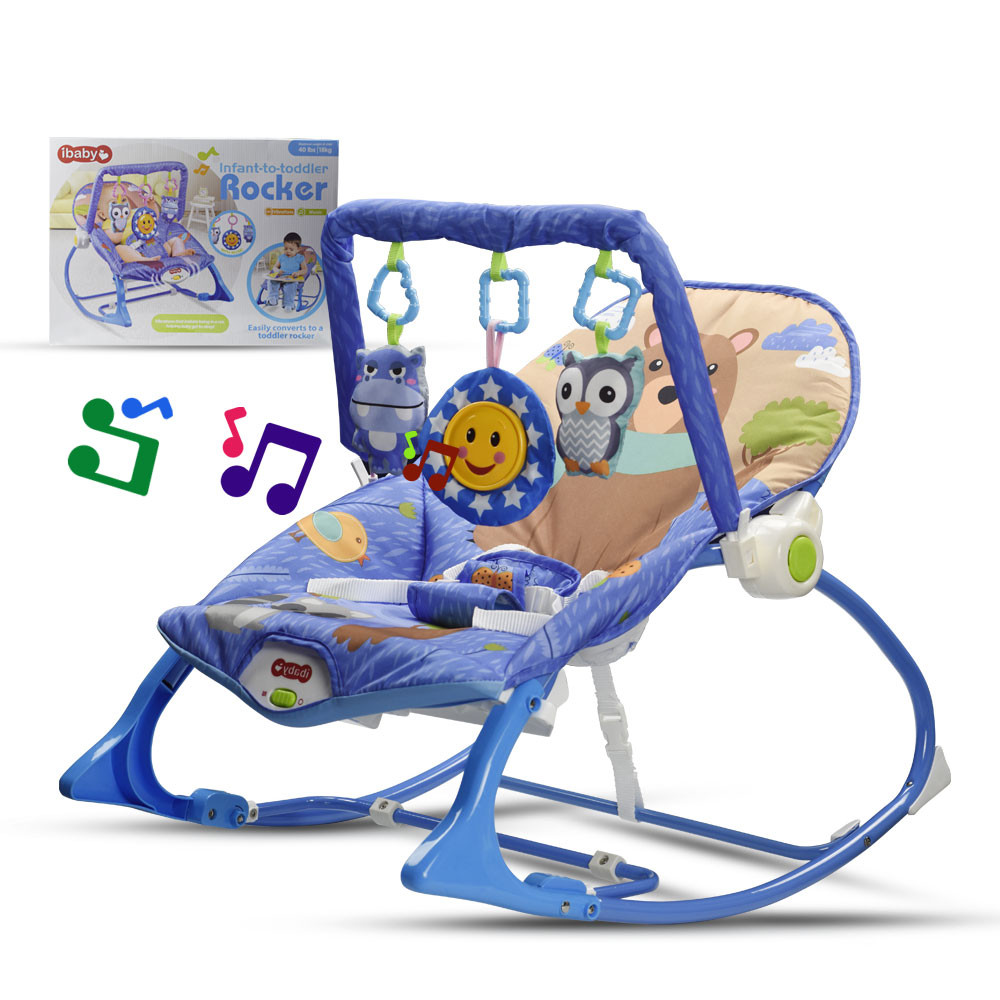 MENGS® Baby soothing vibrations Infant-to-Toddler Rocker multifunctional Music Rocker Chair With Toy Sleeping Swing Adjustable Seat Chair Suitable 40 Lb/18 Kg