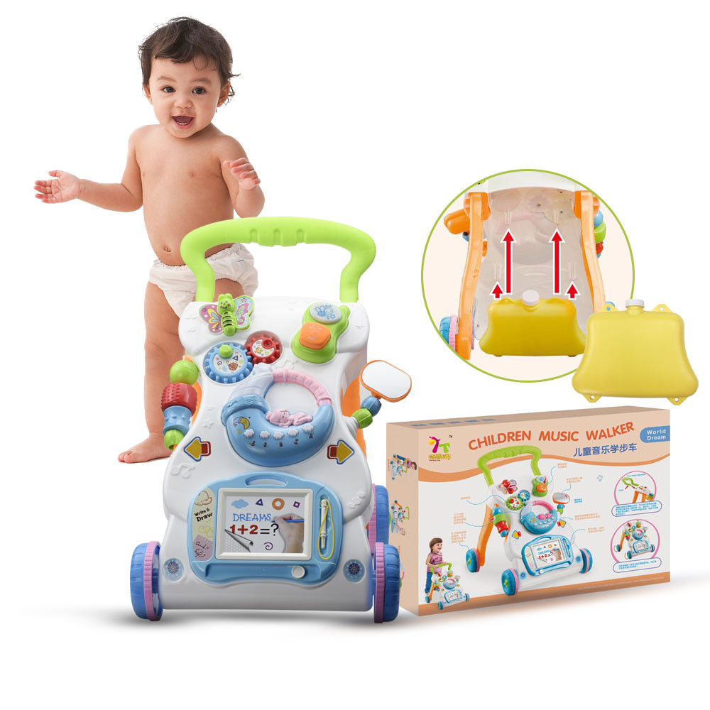 MENGS®  Baby Walker, Sit-to-Stand Learning Walker Musical Cartoon Walker Multifunction Toddler Toys + Weight gain tank
