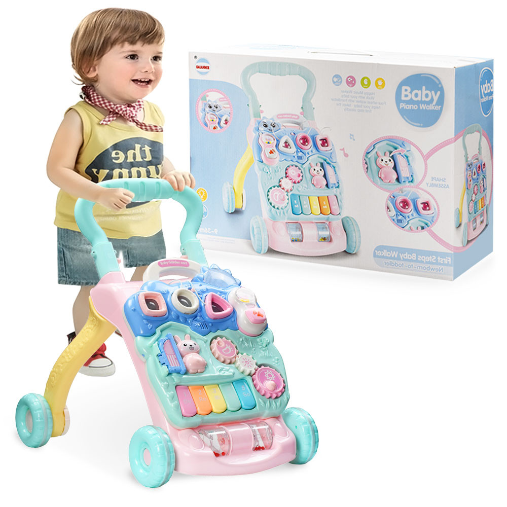 MENGS®  Musical Baby Walker, Sit-to-Stand Learning Walker Cartoon Walker Multifunction Toddler Toys, first-step activity