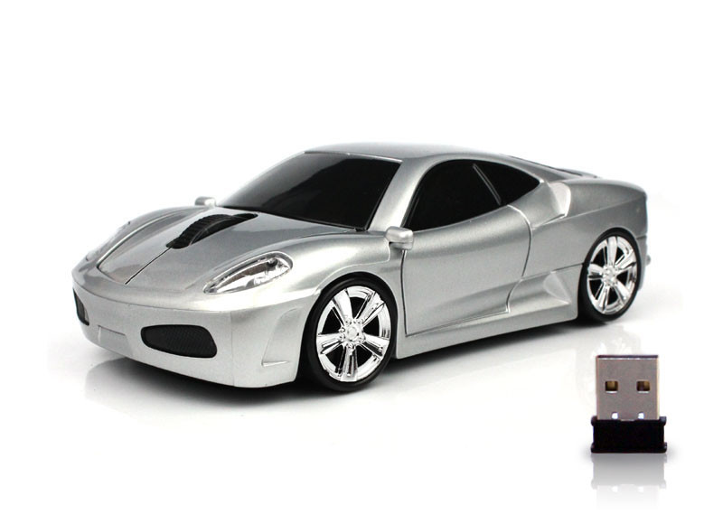 MENGS® F430 2.4G 1600DPI Wireless Mouse USB Optical Car Shaped Mouse For PC Laptop - Silver