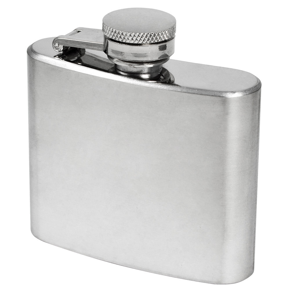 MENGS® 2oz Hip Flask With Stainless Steel Ideal For Liquor / Whisky / Vodka Or Alcohol - Perfect Gift