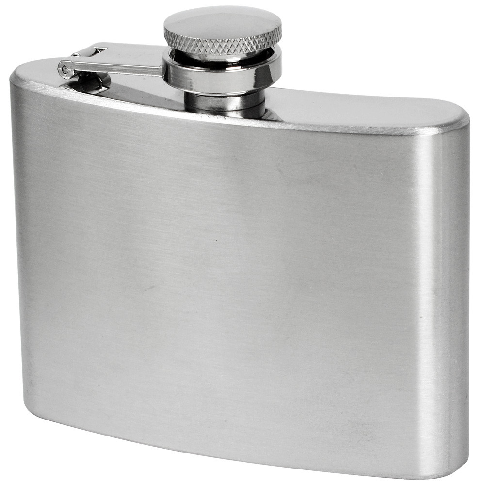 MENGS® 4oz Hip Flask With Stainless Steel Ideal For Liquor / Whisky / Vodka Or Alcohol - Perfect Gift