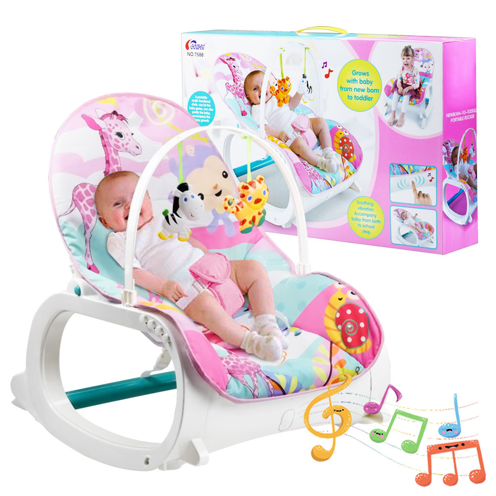 MENGS® Infant-to-Toddler Rocker Babywippe music baby rocker chair  with toy Sleeping Swing Adjustable seat Chair Suitable 44 lb/20 kg