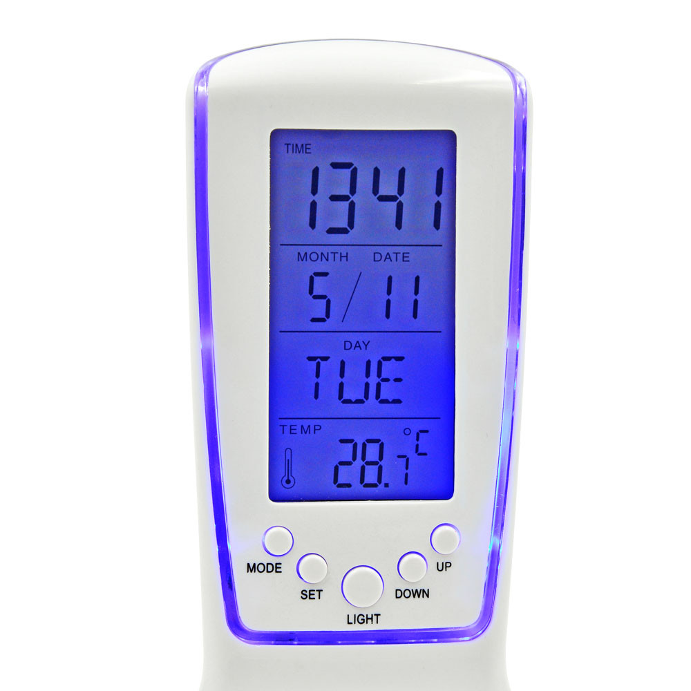 510 Fashion Lcd Alarm Clock With Calendar Digital Thermometer Led Circuit Series 5b15dledcircuitjpgd Blue Backlight Birthday Gift For Children Lights Photography Accessories