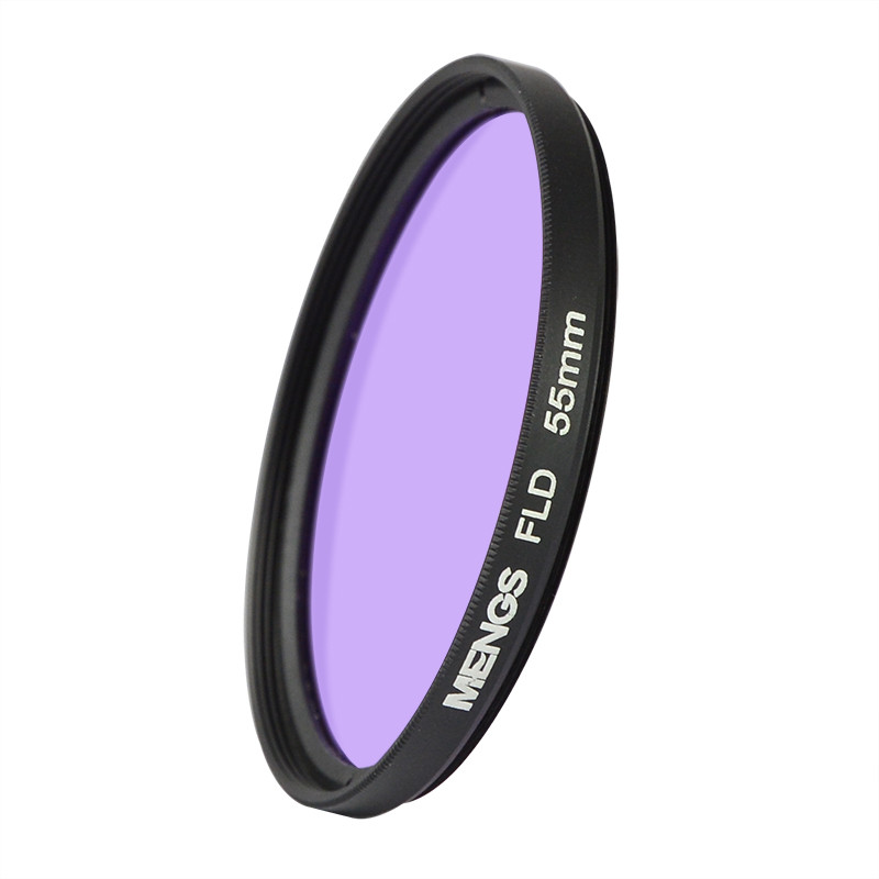 MENGS® 55mm FLD Fluorescent Filter with aluminum frame for Canon / Sony / Nikon / Fuji / Pentax / Olympus etc DSLR Camera