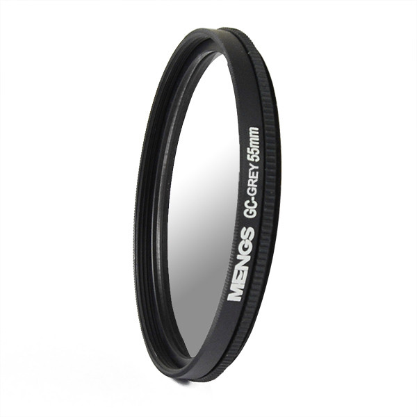 MENGS® 55mm Graduated GRAY Lens Filter With Aluminum Frame for Canon Nikon Sony Fuji Pentax Olympus etc digital camera
