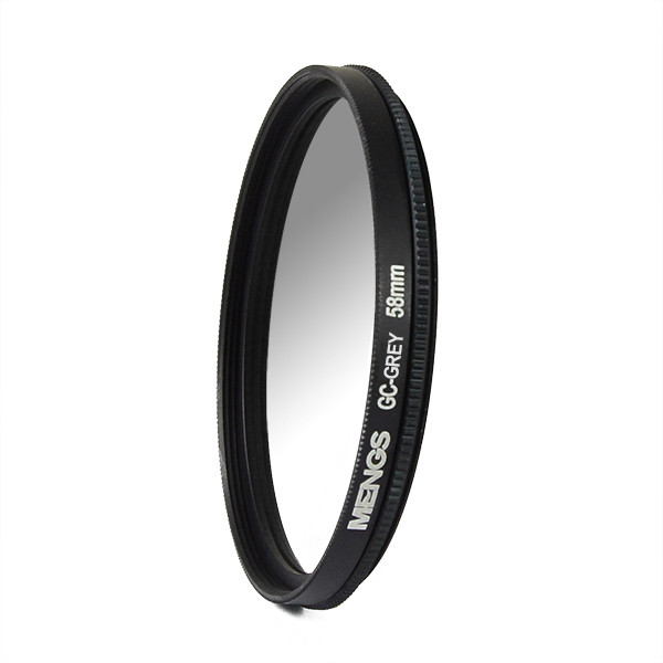 MENGS® 58mm Graduated GRAY Lens Filter With Aluminum Frame for Canon Nikon Sony Fuji Pentax Olympus etc DSLR camera