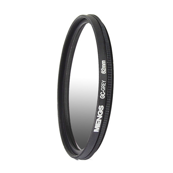MENGS® 62mm Graduated GRAY Lens Filter With Aluminum Frame for Canon Nikon Sony Fuji Pentax Olympus etc camera