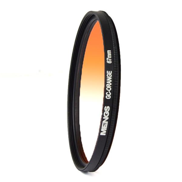 MENGS® 67mm Graduated ORANGE Lens Filter With Aluminum Frame for digital camera and DSLR Camera