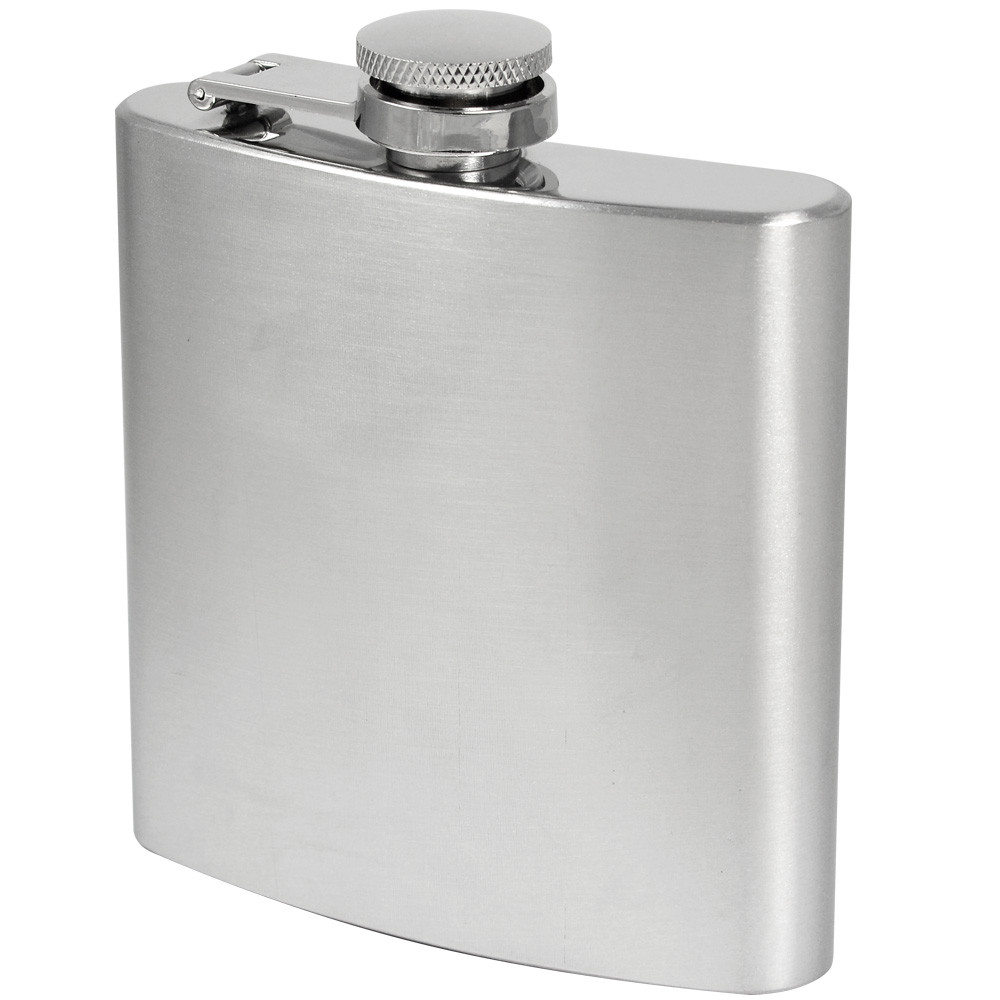 MENGS® 6oz Hip Flask With Stainless Steel Ideal For Liquor / Whisky / Vodka Or Alcohol - Perfect Gift