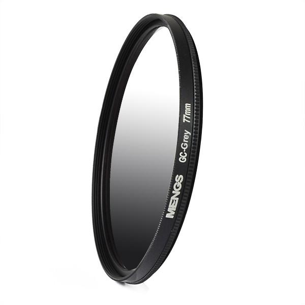 MENGS® 77mm Graduated GRAY Lens Filter With Aluminum Frame for Canon Nikon Sony Fuji Pentax Olympus etc SLR camera